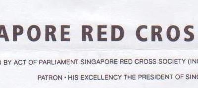 Appreciation from S'pore Red Cross   红十字会感谢信